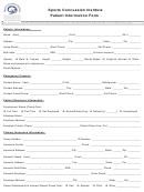 Sports Concussion Institute Patient Information Form