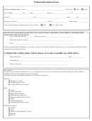 Patient Information Form - St. John Providence