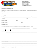 Stock Car Registration Form - Western Speedway