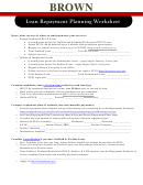 Loan Repayment Planning Worksheet - Brown University