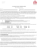 Utah Housing Corporation Recapture Notice