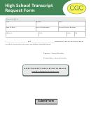 High School Transcript Request Form