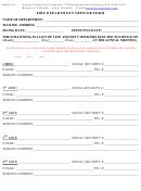 Fire Department Officer Form
