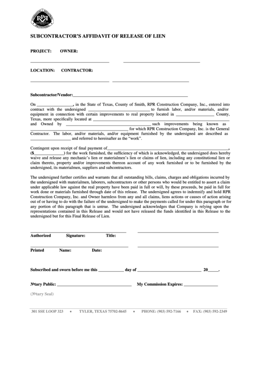 Top Release Of Lien Form Texas Templates free to download in