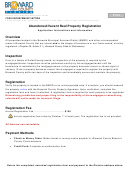 Abandoned Vacant Real Property Registration Form