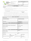 Application For Transfer Of Stall Tenancy Existing Stallholder