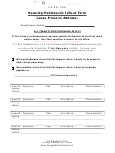 Security Pet Deposit Refund Form Lease Property