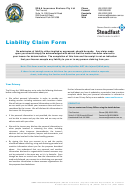 Liability Claim Form - Ssaa Insurance Brokers