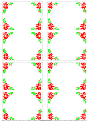 Christmas Poinsettia Frame Name Tag Template