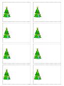 Christmas Tree Name Tag Template