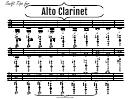 Alto Clarinet Finger Chart