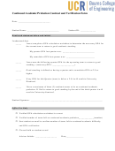 Continued Academic Probation Contract And Verification Form