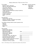 Sample Medication Reconciliation Form