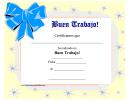 Good Job Certificate Ribbon