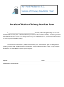 Receipt Of Notice Of Privacy Practices Form
