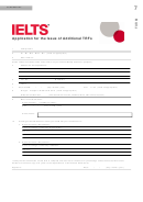 Application For The Issue Of Additional Trfs - Ielts