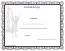 Graduate Certificate Of Achievement Template