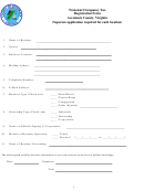 Transient Occupancy Tax Registration Form Accomack County, Virginia