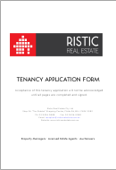 Residential Tenancy Application Form