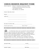 Check Reissue Request Form - Central Connecticut State University