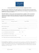Curricular Practical Training Student Application Form