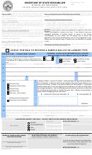 Voter Registration Application Nevada Wic