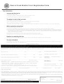 Mail In Voter Registration Form - State Of Utah