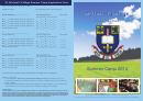 Summer Camp Form 2014 St Michaels College Junior School