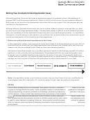 Writing Your Graduate School Application Essay