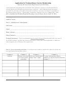 Shawnee Mission North High School Application For National Honor Society Membership