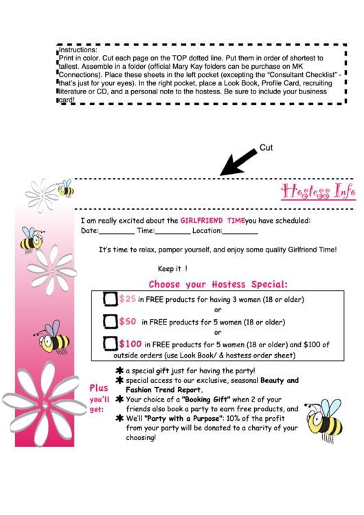 mary kay order form printable pdf download