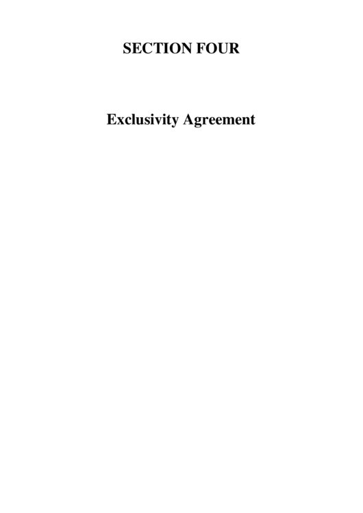 Product Exclusivity Agreement