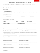 Bill Of Sale Template For A Vessel/trailer