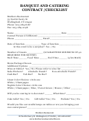 Brothers Restaurant Banquet And Catering Contract /checklist