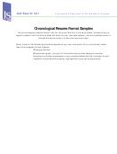Chronological Resume Format Samples