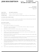 Paterson Board Of Education Security Officer Job Description