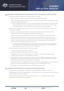 Firb Business Application Checklist