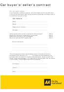 Car Buyer's/seller's Contract Template