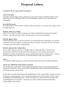 Proposal Letters: Instructions And Example (medical Research Related)