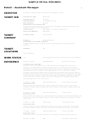 Sample Retail Resumes Assistant Manager