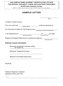 On-campus Employment Verification Letter For Social Security Card Application Purposes