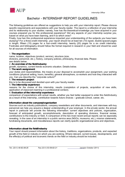 Top 6 Internship Report Templates free to download in PDF format