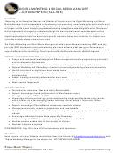 Prince Music Theatre Digital Marketing & Social Media Manager - Job Description
