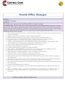 Central Care Dental Office Manager
