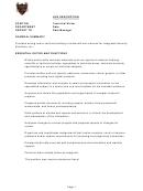 Job Description Technical Writer