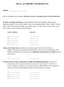 Mfa Academic Course Plan