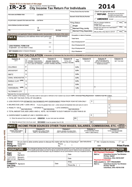 Top City Of Columbus Income Tax Forms And Templates free to ...
