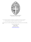 Applications For Remarriage In The Diocese Of South Carolina