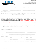 Form Vp-222 - Application For Vehicle Registration