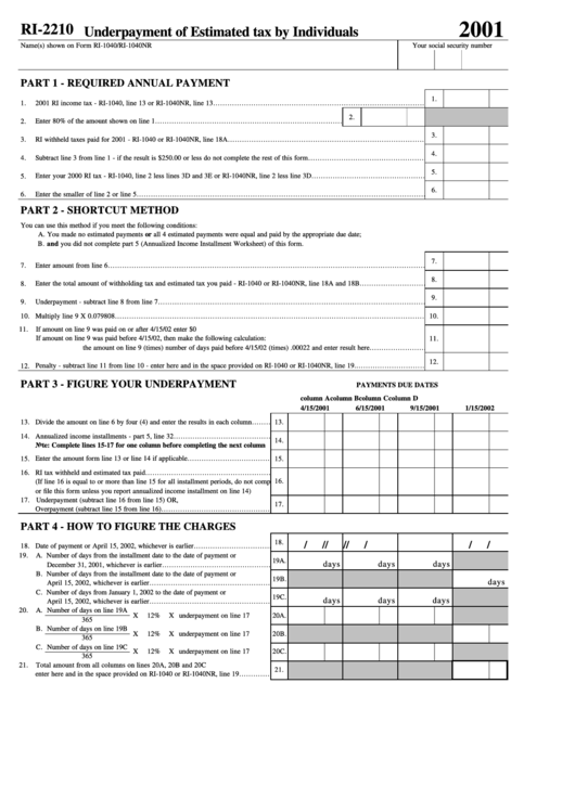 13 Form 2210 Templates free to download in PDF, Word and Excel
